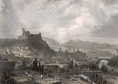 Pintura de la ciudad de Tiflis